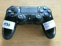 PS4 Playstation 4 Dualshock Controller Black Faulty A30