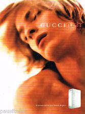 PUBLICITE ADVERTISING 075  2001  GUCCI  parfum homme RUSH