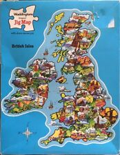 WADDINGTONS House of Games Jig-Map Jigsaw Puzzle THE BRITISH ISLES Vintage Retro