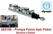 265195 Pompa Freno Doppia Mandata Olympia per Piaggio Ape Poker Benzina e Diesel