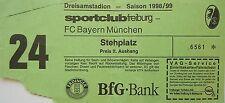 TICKET 1998/99 SC Freiburg - Bayern München