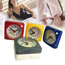 "Non-ticking Travel Alarm Clock Small Silent Clock with Snooze Night Light 2.4"""