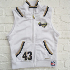 ST. LOUIS RAMS | Ladies Retro White REEBOK Sleeveless NFL Sweater Top | UK 12 M