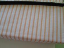 Nautica twin sheet set--Orange / White Striped--Cotton Blend--New w/tags