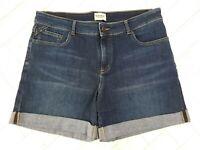 White Stuff Boyfriend Blue Denim Shorts Size 14