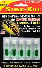 Sting Kill Disposable Swabs 5 Ct  for the treatment of bee stings.