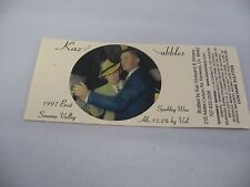 Wine Label: KAZ....UBBLES 1997 Brut Sparkling Wine Sonoma Valley California