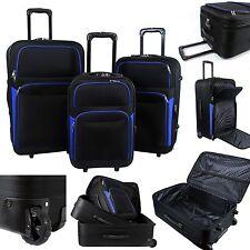 Stoff Reisekoffer M L XL 3er Set Reisetasche Trolley Koffer Reise Soft Gepäck