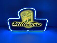 New listing Vintage Miller Lite Beer MillerTime Neon Sign Bar Pub Light