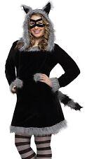 Racy Raccoon Costume Dress Hoodie Adult Sexy Furry Racoon - Plus Size 16-20 XL