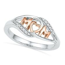 Rose Color Love MOM Heart Ring