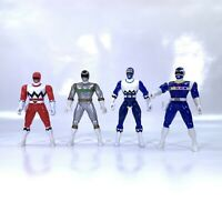 Mighty Morphin Power Rangers 5.5 Inch Figures 1998 Lot 4 Blue Silver Red MMPR
