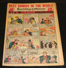 1952 Sunday Mirror Weekly Comic Section March 9th (FN+) Superman and Monkey