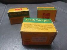 3 Vintage KODAK TX 135-20 TRI-X PAN Black & White Film Rolls, Expired 1980 NIB