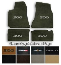Chrysler 300 Velourtex 4pc Carpet Floor Mats- Choice of Carpet Color & Logo