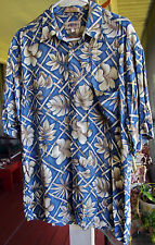 CAMPIA Mode Tropical Hawaiian Style Short sleeve Shirt LARGE 100% Rayon