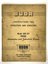Buda Model 6dt 317 Diesel Engine Instructions For Operating Amp Servicing 1420 A