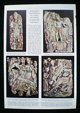 ENGLISH MEDIEVAL ALABASTER CARVINGS HUNGATE YORK ARCHAEOLOGY 1pp ARTICLE c1957