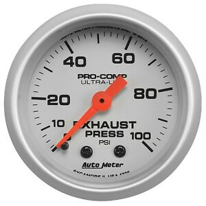 AutoMeter 4326 Ultra-Lite Mechanical Exhaust Pressure Gauge