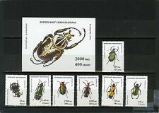 MADAGASCAR 1993 Sc#1216-1223 FAUNA/INCECTS SET OF 7 STAMPS & S/S MNH