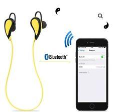 Sports Stereo Headset, Yellow, Bluetooth 4.1 wireless headphone In-Ear Earbuds