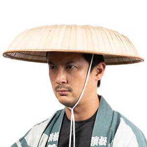 NEW Japan NInja Samurai Hat Edo Travel Cosplay Natural Bamboo . SANDOGASA