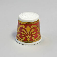 Kämmer PORCELLANA ditale Fiore Ornament ORO/ROSSO 2,5x2,6cm 88228