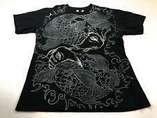 Affliction 2XL Black Koi Fish Short Sleeve Men's T-Shirt XXL