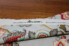 "New - Home Decor Fabric - ""HGTV - Bespoke Blossoms Mineral"" 32""L x 54""W"