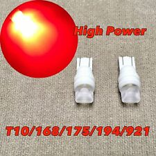 3rd Brake Light T10 3 SMD LED Wedge Bulb 194 175 2825 168 12961 W5W Red W1 JAE