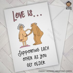 Funny ANNIVERSARY VALENTINES CARD Rude wife husband BIRTHDAY adult partner dad