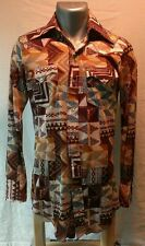 VINTAGE 1970's polyester western shirt VERY COOL ROCKABILLY (see measurements)
