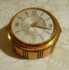 Vintage Jaeger 8 Day Desk Clock Art Deco Style 15 Pierres Swiss Spares & Repairs