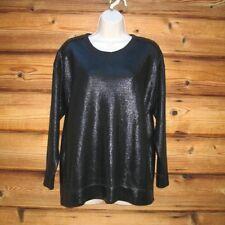 Zara Shiny Sweatshirt Top Size Large 2619 021