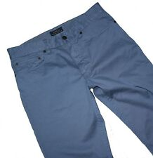 Ralph Lauren w38 l32 Slim Fit 5 Pocket Pantaloni STRETCH LIGHT COTTON JEANS