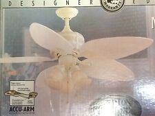 "Brand New 52"" Ceiling Fan, Marquesas, Natural White Finish w/ Real Wicker Accent"