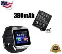Original DZ09 380mAh Battery Smart Watch Phone Battery 380mAh Li-Polymer Battery