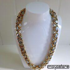 XXL BIZANTINO Collar 60cm / φ14mm Cadena Acero Inoxidable Oro Plata Collar