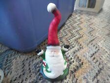 "7"" tall porcelain hand painted Santa Christmas bell"