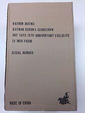 Hot Toys MMS 140 Batman Begins Batman Demon and Scarecrow 12 inch Figure NEW