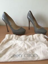 Jimmy Choo Cosmic Grey Heels, Size 37, Uk4, New