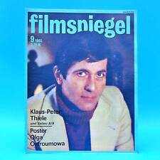 DDR Filmspiegel 9/1985 Klaus-Peter Thiele Erwin Geschonneck Adolf Wohlbrück V