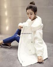 Korean Women Hoodie Loose Parka Trench Long Winter Warm Windbreaker Coat Outwear