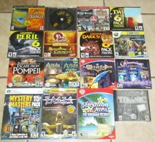 Lot 16 discs but over 40+ Games Big Fish Mystery Masters Games Hidden Objective