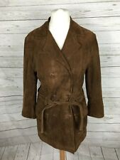 Women's Timberland Suede Double Breasted Coat - M UK12/14 - Great Condition