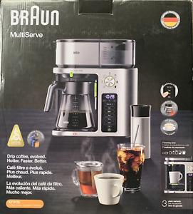 Braun MultiServe Coffee Machine 7 Programmable Stainless Steel KF 9170