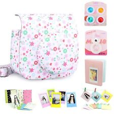 Gmatrix Fujifilm Instax Mini 8 Case Bag Accessory Bundle Set Best Gift Floral