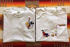 Vtg Disney Mickey Mouse & Goofy Pocket Tee Shirt Men's L Made In USA