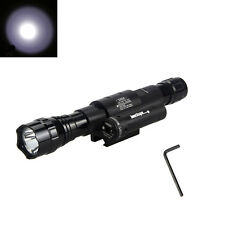 5000LM White XM-L T6 LED Flashlight Torch Rail Mount Rifle Red Laser Dot Sight