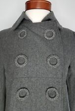 Womens BB Dakota Swing Coat Size Small Grey Pea Military Jacket